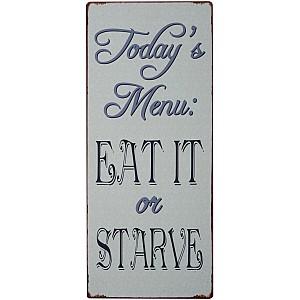 Tin Sign Today's Menu