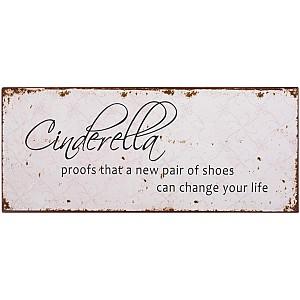 Plåtskylt Cinderella proofs