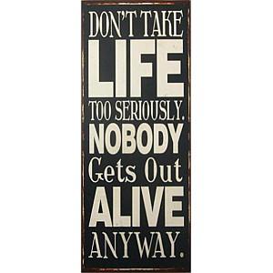 Plåtskylt Life