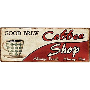 Plåtskylt Coffee Shop