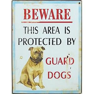 Plåtskylt Beware