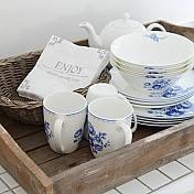 Blue Rose Dinnerware